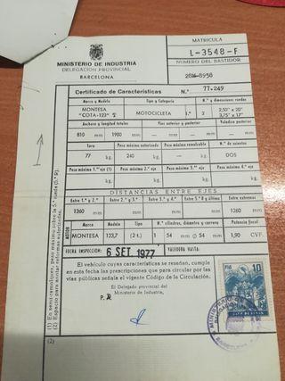 Documentacion para montesa cota 123