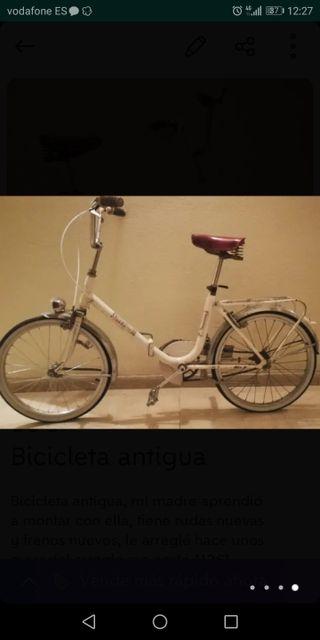 Bicicleta antigua, reparada, muy barata