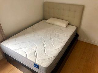 Cama con canapé abatible Conforama y cabecero Ikea