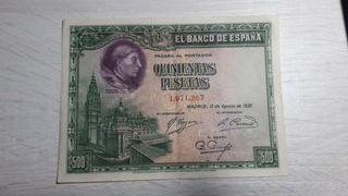 Billete de España de 500 Pesetas de 1928