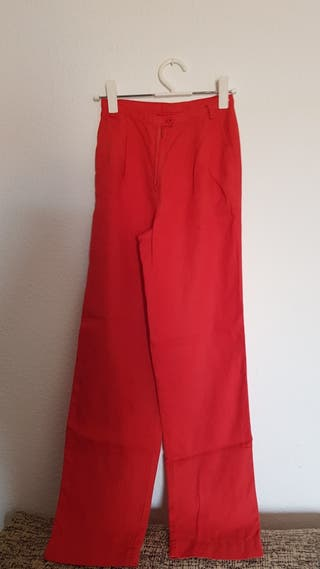 pantalón lino vintage talla 36-38
