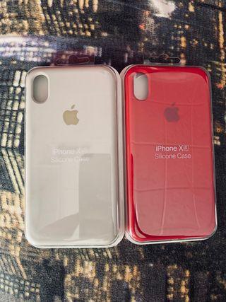 """Fundas iPhone X/XR/XS logo """" Silicone Case """""""