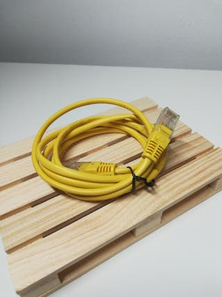 Cable Ethernet amarillo 1,5m Cat. 5