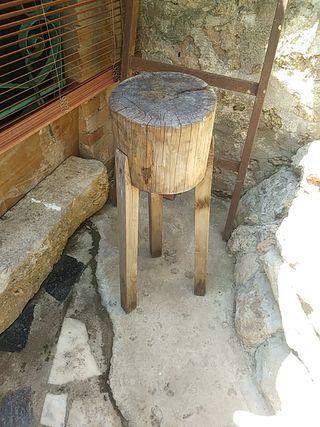 banco de madera para carne etc