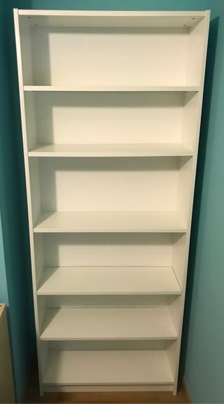 Librería blanco IKEA