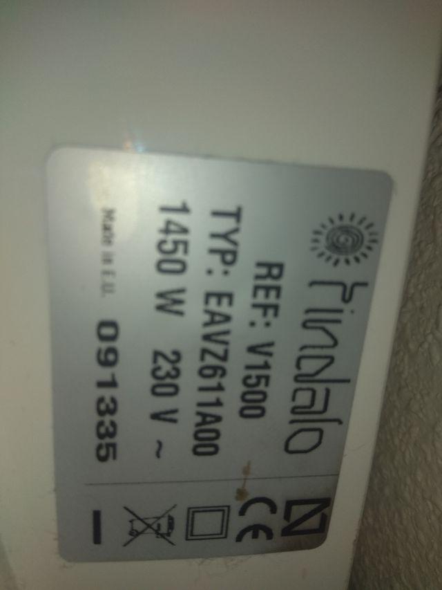 Calefactor eléctrico 1.450w