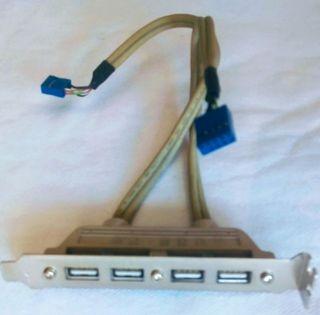 Conector 4 puertos usb 2.0 para PC.