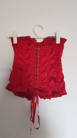corpiño vintage rojo