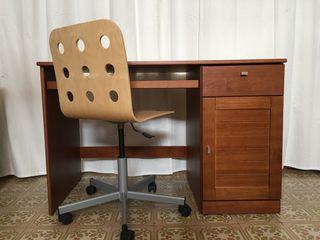 Escritorio 120x60 cm altura 78 cm y silla giratori