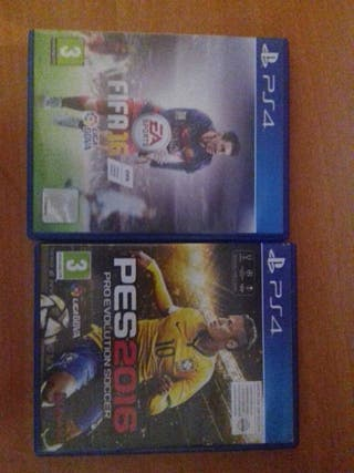 2×1 FIFA 16 + PRO EVOLUTION SOCCER 2016 (PS4)