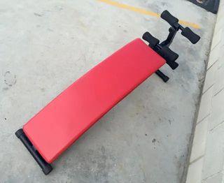 Banco de Musculación Abdominales Rojo