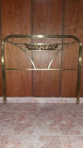 Cabecero cama de hierro dorado