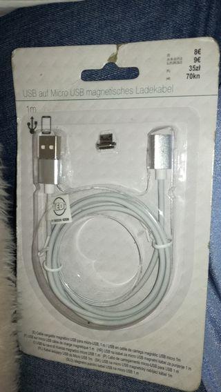 Cable cargador usb móvil