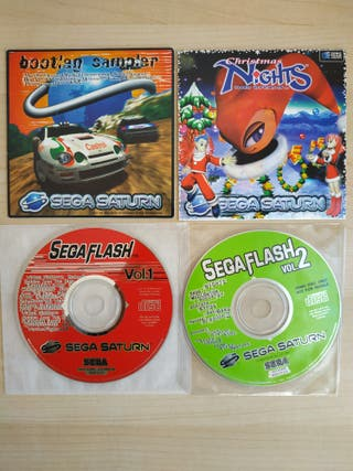 PACK 4 DEMOS PAL PARA SEGA SATURN