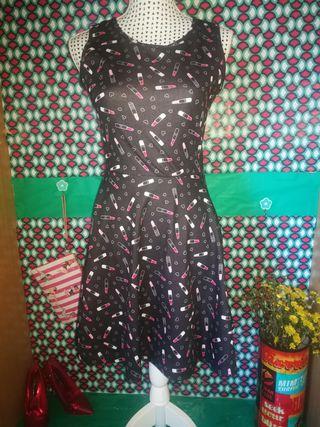 Vestido estampado Chic, talla M