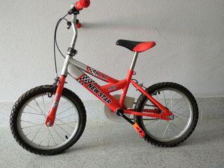 "Bicicleta BMX infantil 16"""