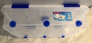 Caja de plástico almacenaje 56 L