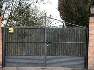 Puerta de hierro forja 4 metros