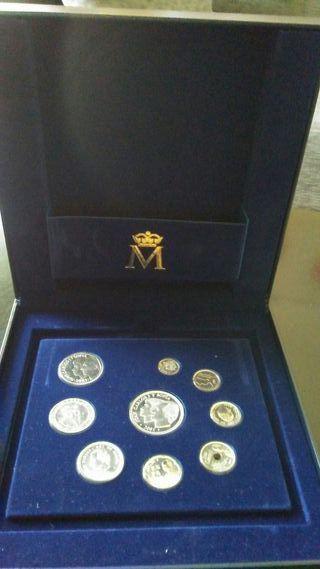 Colección últimas pesetas en plata