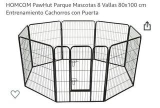 8 vallas de 80 x 100 cm para mascotas
