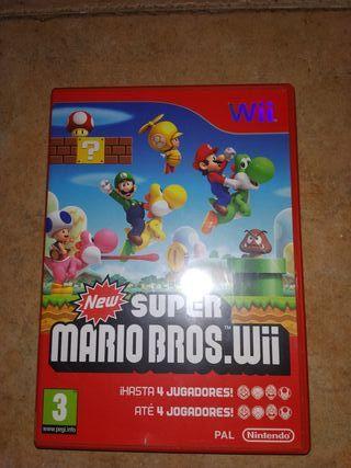 Super Mario Bros juego Wii