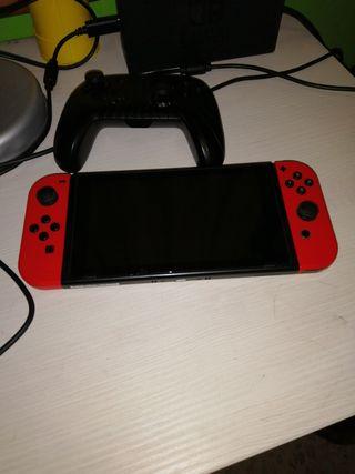 Nintendo switch + mando pro, + 3 juegos