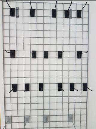 Expositor de rejilla para pared