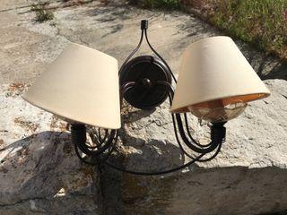 Lámparas de pared rústicas