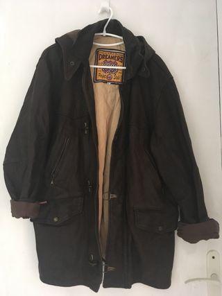 Manteau en cuir vintage homme