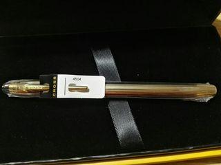 Bolígrafo Cross chapado en oro (nuevo)