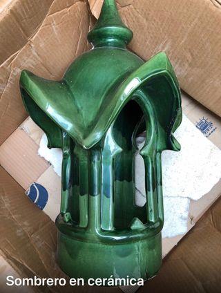 Sombrero ceramica chimenea