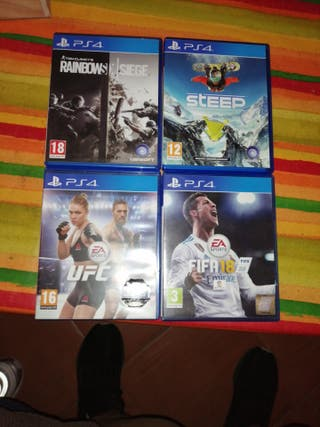 Juegos Ps4 Tom Clancys, Steep, UFC2 Y Fifa18