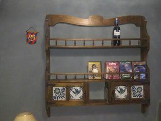 estanteria, botellero rústica de pared