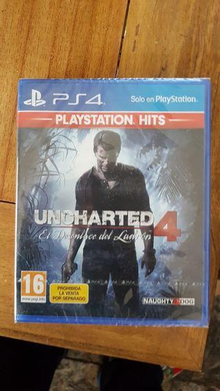 Uncharted 4 para ps4 con su precinto