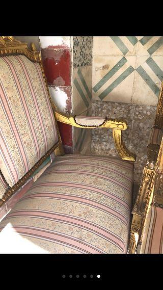 Sofá clásico y sillones a juego( conjunto)