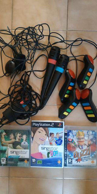 Buzz y Singstar PS3