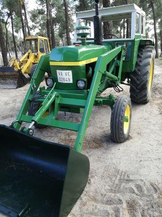 tractor john deere 3135 con pala y documentacion