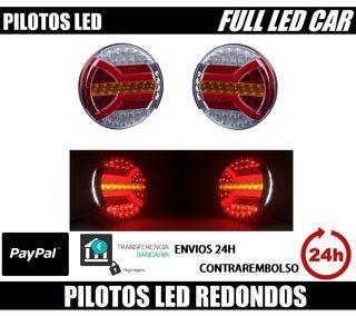 PILOTOS LED REDONDOS 3 FUNCIONES COMBINADOS