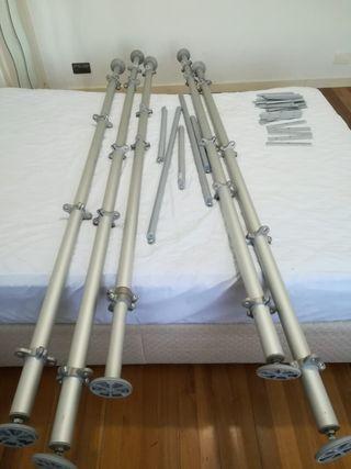 pack soportes para vestidor