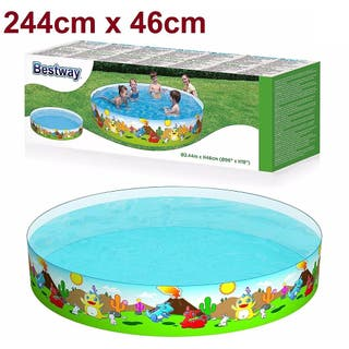PISCINA FAMILIAR RIGIDA 244cm X 46cm BESTWAY