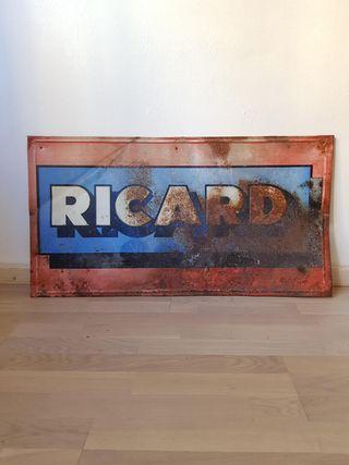 ANTIGUO CARTEL PUBLICITARIO CHAPA METÁLICA RICARD