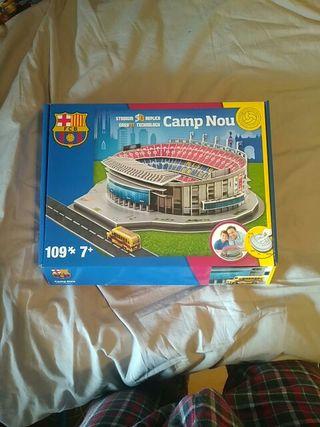 maqueta del campo del Barça