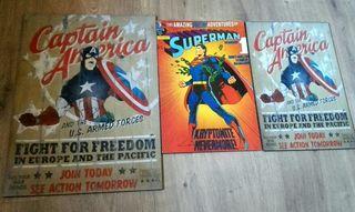 Carteles súper héroes. Varios tamaños