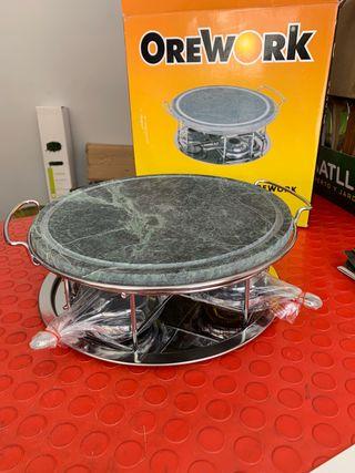 Grill piedra circular