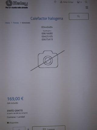 calefactor halogena