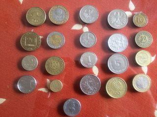 Coleccion de monedas por todo el mundo