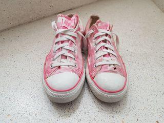 Zapatillas Converse rosas cuadros