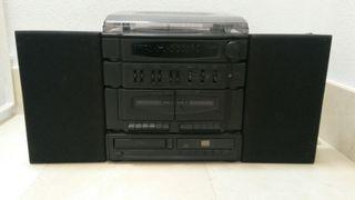 Tocadiscos con D.Cassette y Cd