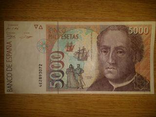 Billete cinco mil pesetas. MUY BUEN ESTADO.