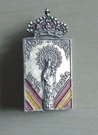 Antigua Insignia de alfiler Virgen del Pilar